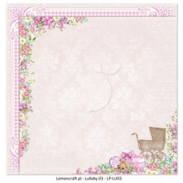 Dwustronny papier do scrapbookingu - Lullaby 03