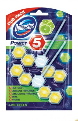 Kostka POWER5 DUO lime 7x2x55g Domestos