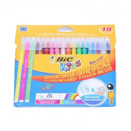 Flamastry 15+3fluo KID COULEUR BIC