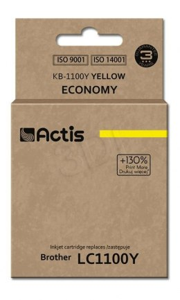 Tusz Actis KB-1100Y (do drukarki Brother, zamiennik LC980/LC1100HY/LC65HY standard 12ml yellow)