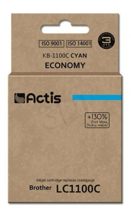 Tusz Actis KB-1100C (do drukarki Brother, zamiennik LC980/LC1100HY/LC65HY standard 12ml cyan)