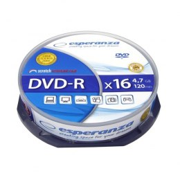 DVD-R 4,7GB x16 - Cake Box (10) Esperanza