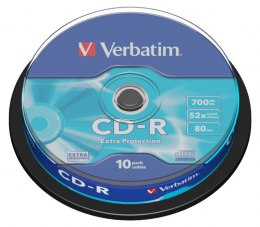 Płyta CD-R CAKE (10) Extra Protection 700MB x52 Verbatim