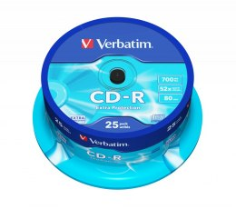 Płyta CD-R CAKE (25) Extra Protection 700MB x52 Verbatim