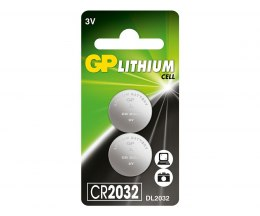 Bateria guzikowa CR2032-U2 (2) LITHUM GP Batteries