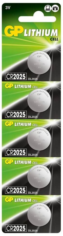 Bateria guzikowa LITHUM CR2025 -U5 GP Batteries