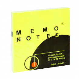 Notes MEMO 75x75 żółty Dalpo